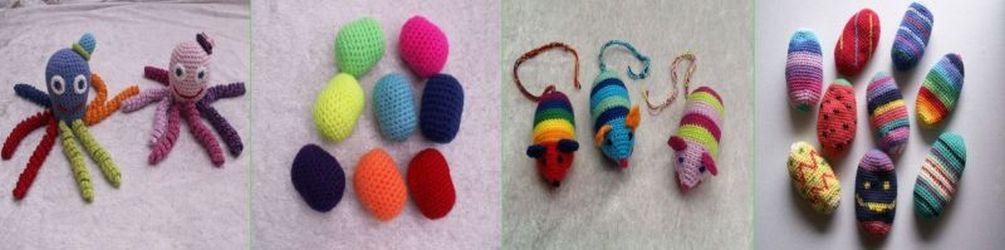 Hæklet legetøj