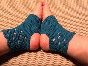 Hæklede yoga sokker